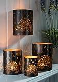 Eisen Wand Teelichthalter mit Elefant Design.
