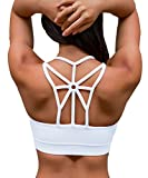 YIANNA Frauen Kabellos Füllung BHS Bewegung Yoga Sport-BH drahtloses weiches bequemes...