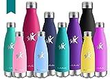 KollyKolla Vakuum Isolierte Edelstahl Trinkflasche, 500ml BPA Frei Wasserflasche Auslaufsicher,...