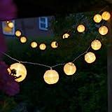 Uping Led Lichterkette 20er Batterienbetriebene Lampions Laterne für Party, Garten, Weihnachten,...