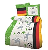 Fußballbettwäsche, 135x200cm, Renforcé/Linon (100% Baumwolle), hergestellt in Deutschland