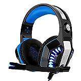 Gaming Headset für PS4 Xbox One PC, Beexcellent Professional Deep Bass Kopfhörer mit Mikrofon LED...