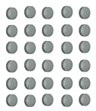 Natthom 30x Magnete, Grau Ø 24mm, Haftmagnete für Whiteboard, Kühlschrankmagnet,...