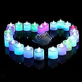lederTEK 24 LED Kerzen Flammenlose Teelichter, flackernde Kerze Teelichter, elektrische Teelichter...