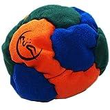 Profi Footbag 6 Paneelen (Orange/Blau/Grun) Pro Freestyle Footbag! Hacky Sack für Anfänger und...
