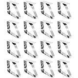 COM-FOUR 16 Stück Tischtuchklammern aus Edelstahl