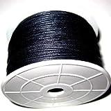 K2-Accessories 90Meter 1mm schwarz gewachstes Baumwollband M,/von Rolle