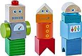 HABA 304353 - Entdeckersteine Roboter-Freunde, Holzspielzeug mit bunten Bausteinen ab 2 Jahren,...
