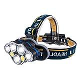 Karrong LED Stirnlampe USB Wiederaufladbar mit 8 Modus, Stirnlampen Kopflampe LED-stirnlampe...