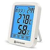 Bodyguard Digitales Thermometer Hygrometer, Luftfeuchtigkeit Monitor mit Blauer...