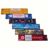 Räucherstäbchen Set Satya Nag Champa Aastha Goloka Natural Räucherware 91g