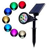 TOOHOO Solar Gartenleuchten,Auto-On / Off Solarbetriebene Wasserdicht Spotlight 2-in-1 Verstellbare...