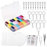 LIHAO 24000 Bügelperlen Set mit Platte Zubehör Muster Steckperlen in Organizerbox (2,6 mm, 24...
