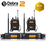 Beste Klangqualität! Professionelles UHF-In-Ear-Monitor-System Dual Channel Monitoring ER-2040 Typ...