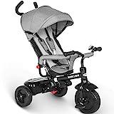 besrey Dreirad 4 in 1 Kinderdreirad Dreirad für Kinder Tricycle mit Schubstange Sonnendach ab 1...