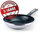 Prestige Pfanne Induktion 24 cm - Bratpfanne mit 5 Jahren Garantie, Edelstahl, Antihaft beschichtet...