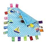 OPUSS Baby Sicherheits-Decke, Tag Schmusetuch Sicherheitsdecken, Baby Label Beruhigendes Handtuch,...