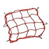Fengh Motorrad Helm Cargo Bungee Net 6Haken Gepäck Paket Cargo Net Laden, Kordel Web–Rot