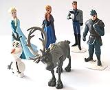 Brigamo 6 x Disney - Die Eiskönigin Figuren, Tortenfigur für die Torte zum Kindergeburtstag,...