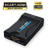 Scart auf HDMI,GANA Scart zu HDMI Konverter 1080P Scart to HDMI Adapter 60Hz HD mit USB Ladekabel...