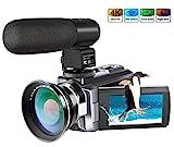 Ansteker 4K-Kamera Camcorder WIF Full HD Videokamera 48MP 16x Digital Zoom Digitalkamera mit...