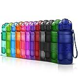 ZOUNICH Sport Trinkflasche BPA frei Auslaufsicher Wasserflasche 400ml/500ml/700ml/1L Kunststoff...