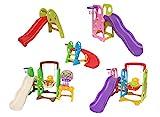 Clarmaro 'Baby ADVENTURE Curved' Kinder Spielplatz Kurven Rutsche mit 100 cm Länge für Kleinkinder...