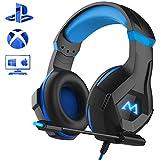 Mpow Gaming Kopfhörer für PC PS4 Xbox One, 7 Farbe RGB-LED Licht, Surround-Sound Gaming Headset...