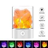 Salz Lampe Himalaya Salzkristall Lampe Nachttischlampe Dekorative Lichter Therapeutisch Salzlampe...