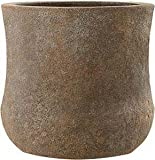 Emsa 8519831547 Fiberglas Blumenkübel Pflanzkübel 'Kerry' braun, old stone (27 x 27 cm)