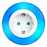 i-SOTA LED Nachtlicht, Steckdosen-Licht als Zwischenstecker, Kinder Sicherung, Farbwechsel Weiß...