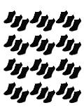 50 Paar Comfort Sneaker Socken - Schwarz - Damen & Herren - 40-46 - Naft