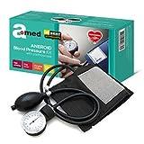 Amed Professionelles Aneroid Blutdruckmessgeräte Set mit Stethoskop, Pumpball, Manometer, Manschett
