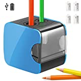 Elektrischer Anspitzer,Qhui automatischer Bleistiftspitzer elektrisch für Kinder,Batterie und USB...