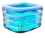 Baby-Kind-Sicherheitsausrüstung Schwimmbadbecken mit Fuß-Luftpumpe Blue Clear