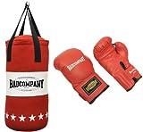 Profi Jugend Box-Set inkl. Canvas Boxsack 60 x 25cm gefüllt und 8-OZ PVC Boxhandschuhe rot