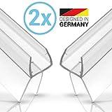 Balder 2 x 100cm Universal Premium Duschdichtung [Doppelpack] - Ideale Dichtung für 6mm, 7mm und...
