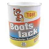 Tiger Bootslack Hochwetterfester Kunstharzlack Hochglänzend lösemittelhaltig 1 kg Farbwahl, Farbe...