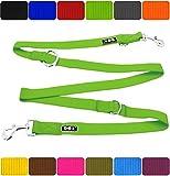 DDOXX Hundeleine Premium Nylon 3fach verstellbar viele Farben & Größen für kleine & große Hunde...