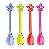 Koziol Löffel-Set Happy Spoon A-Pril, Kunststoff, transparent blau/oliv/Pink/Rot, 1.2 x 2.9 x 15.1...