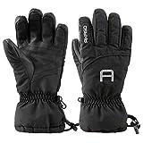 AKASO Ski Handschuhe Schwarz-L