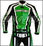 Motorrad Lederkombi 4LIMIT Sports LAGUNA SECA Motorradkombi Zweiteiler grün-schwarz-weiß