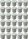 30 Salbendöschen, Cremedöschen, Salbenkruke hoch, 12ml Inhalt , MADE IN GERMANY