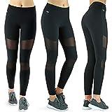 Formbelt Variosports [Leggings mesh mit Tasche lang] - Laufhose Fitness Stretch-Hose hüfttasche...