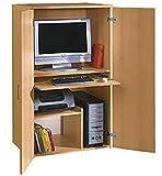 Büroschrank Buche dekor - PC Schrank - Computerschrank Buche dekor - (813)
