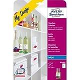 Avery Zweckform Flaschen-Etiketten InkJet 90x120mm VE=20 Stück