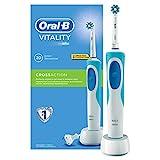 Oral-B Vitality elektrische Zahnbürste, mit Timer und CrossAction Aufsteckbürste, weiß/blau
