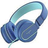 AILIHEN Kinder Kopfhörer mit Kabel Mikrofon Lautstärke Kontroller Faltbarer Leicht...