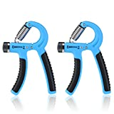 BESTOMZ 2 Stück Handtrainer Fitness Fingerhantel Fingertrainer Handgriff 20-88 Lbs (10-40 kg)...