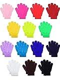 Hestya 14 Paar Warme Winter Handschuhe Kinder Strick Handschuhe Bunte Kinder Winter Handschuhe für...